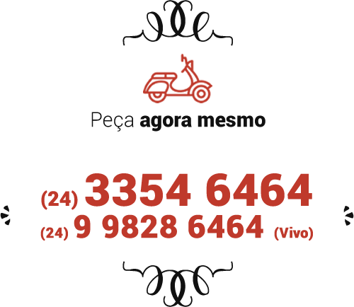Nosso delivery: (24) 3354 6464